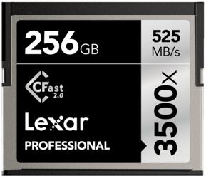 Lexar CFast 2.0 256GB x3500 Professional