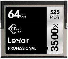 Lexar CFast 2.0 64GB x3500 Professional