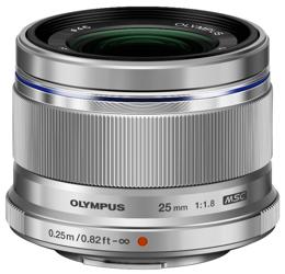 Olympus M.ZUIKO DIGITAL 25mm f/1.8 srebrny