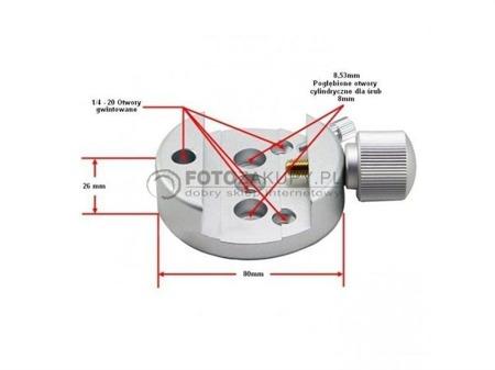 GSO Adapter dovetail do statywu / montażu
