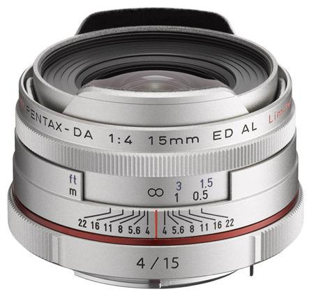 Pentax HD DA 15mm F4 ED AL Limited - srebrny