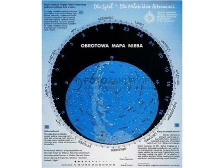 obrotowa mapa nieba